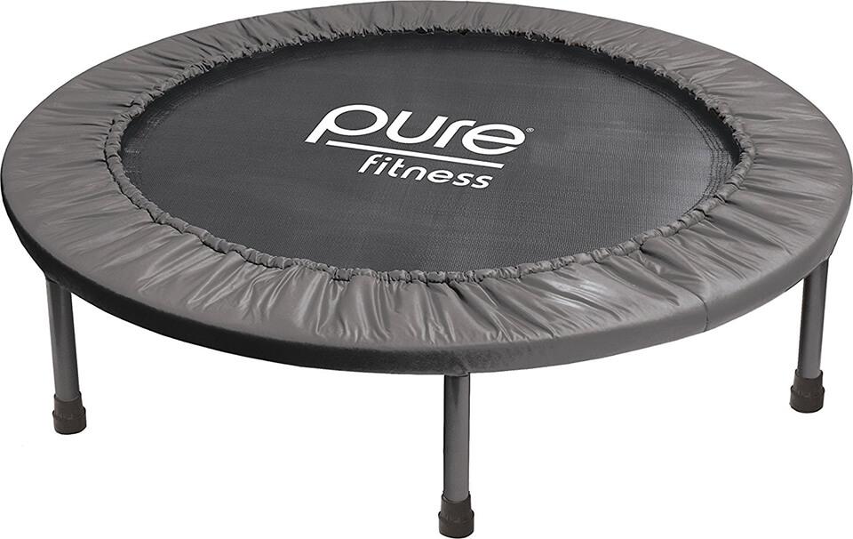 pure fitness mini trampoline-rebounder