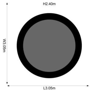 magnitude 12ft, 3.06m size chart