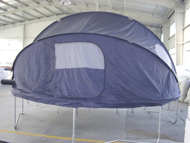 tent to enclose trampoline