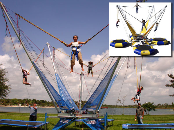 Bungee Trampolines, aka Salto Trampolines