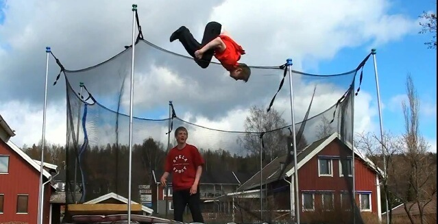 trampoline stunts - doubles video