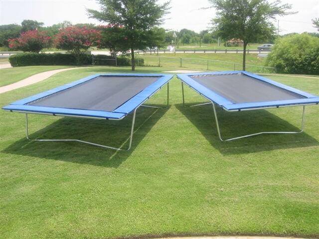 Rectangular trampolines - Gartentrampolin stiftung warentest ...