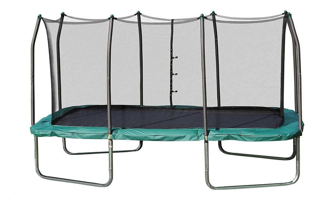 skywalker 8x14ft green rectangular trampoline