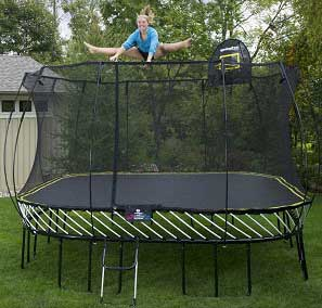 Rectangular vs. Square Trampolines