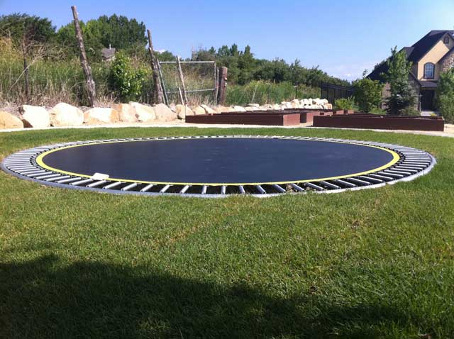 how to install in ground trampoline