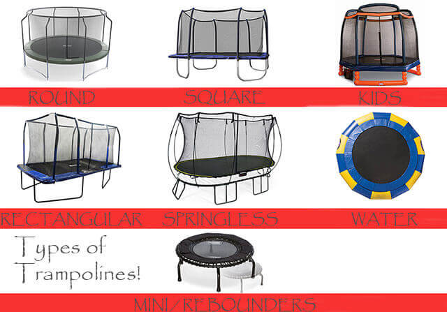 types of trampolines