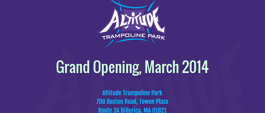 Altitude trampoline park opening flyer