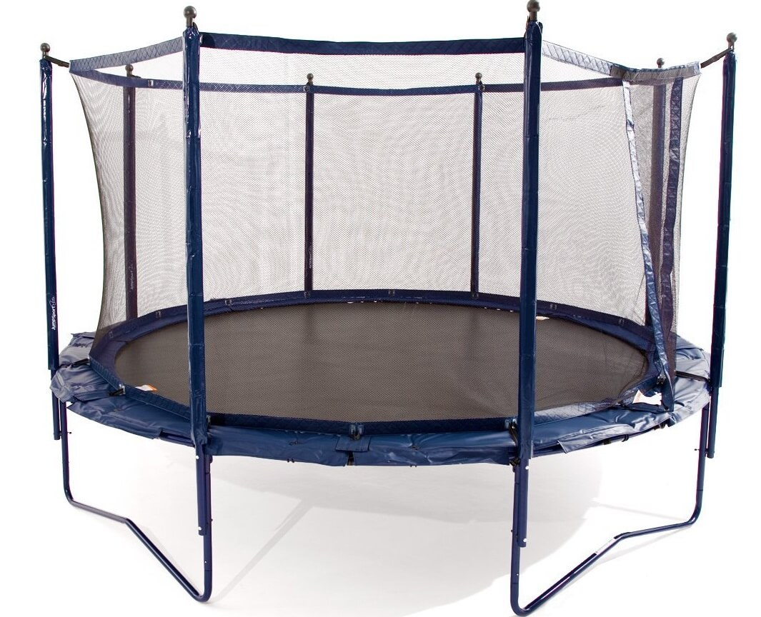 trampoline 150 kg ancheer folding portable foldable round trampoline bouncer with safety pad. Black Bedroom Furniture Sets. Home Design Ideas