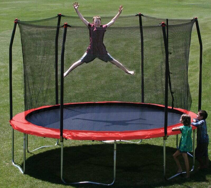 12 Foot Trampoline By Jumpsport: SkyWalker 12ft Round Trampoline With Enclosure