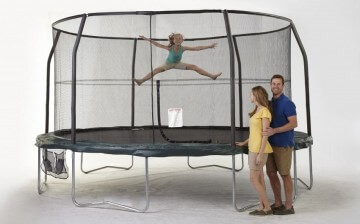 JumpKing JumpPod 15ft round Trampoline