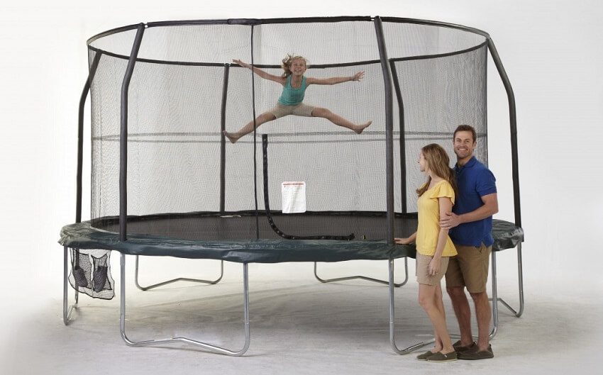 mini trampoline with enclosure jumpking jumppod 15 foot trampoline and enclosure 7517