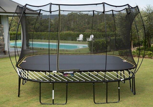 Springfree 13 foot jumbo square trampoline for Springfree trampoline