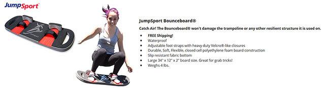Trampoline BounceBoard from JumpSport