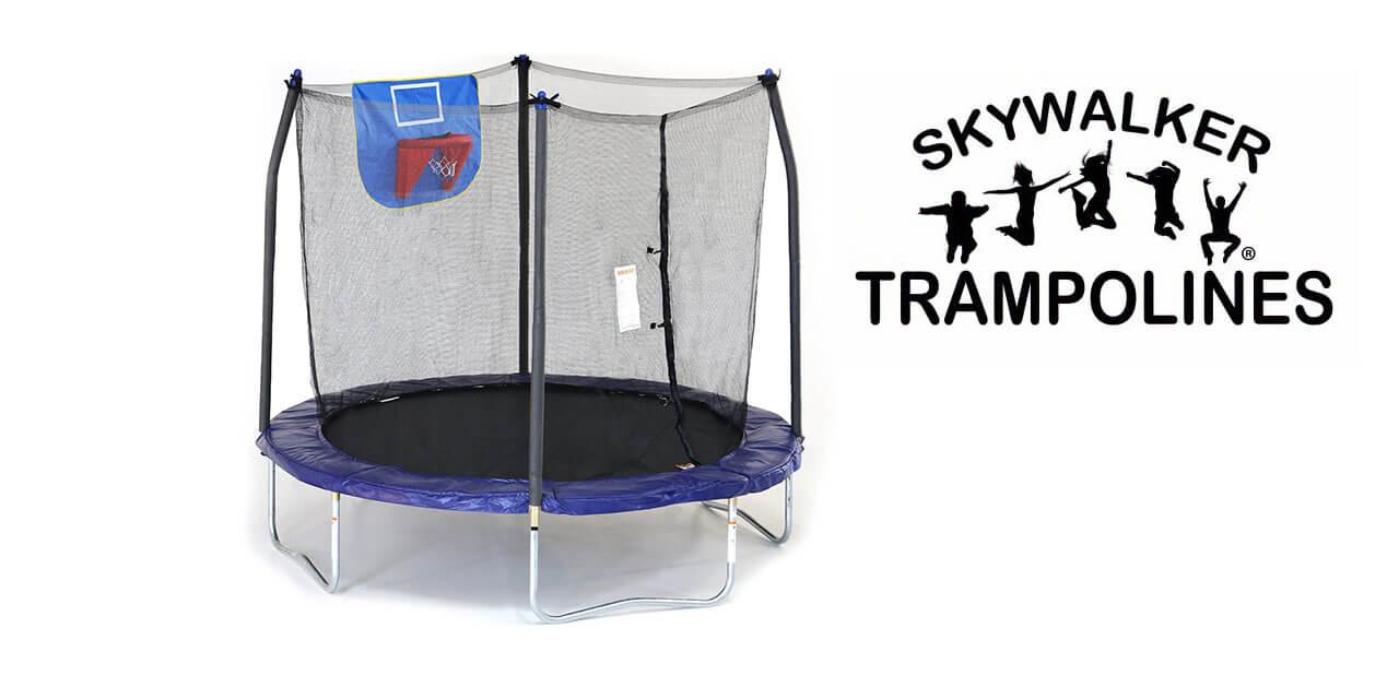 8 foot skywalker trampoline - jump n` dunk