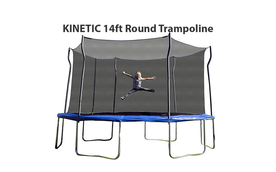 Kinetic Trampoline with Enclosure