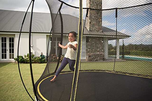 funtime on springfree trampoline