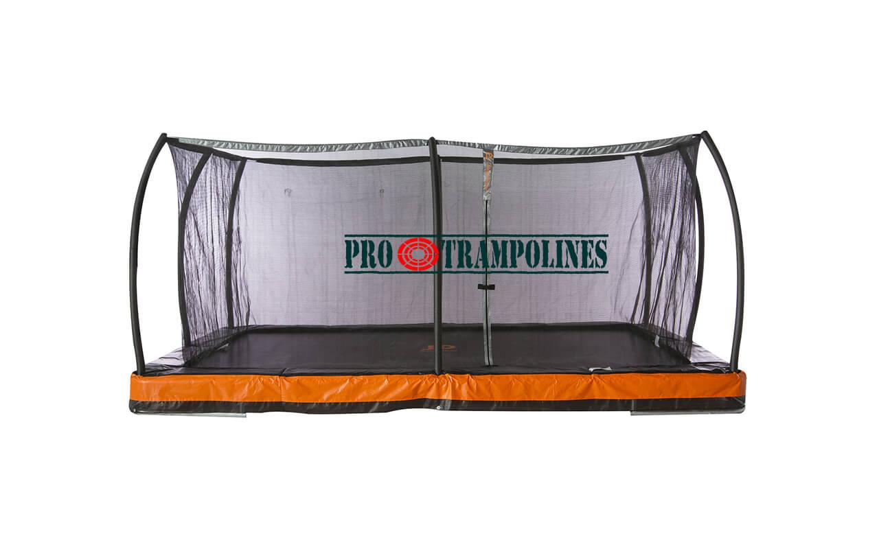 jump power inground rectangle trampoline