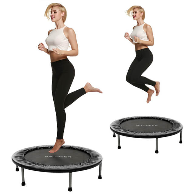 Woman training on Ancheer trampoline