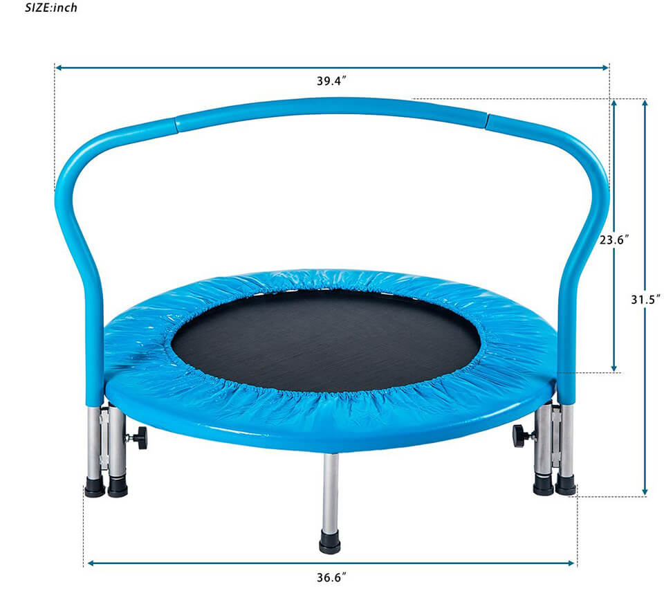 Size of Merax kids mini trampoline