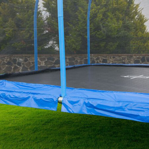 BouncePro 15' Square Trampoline outdoor frame and net