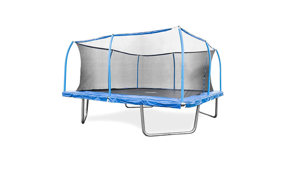 BouncePro 15′ Square Trampoline and SteelFlex Safety Enclosure