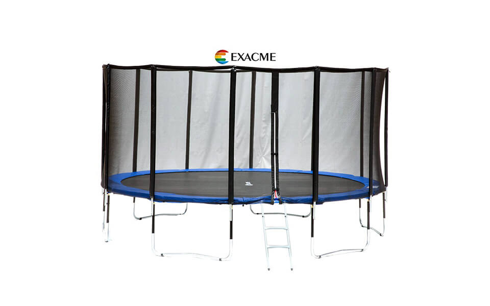 Exacme Luxury Fibre pole 15ft Round Trampoline