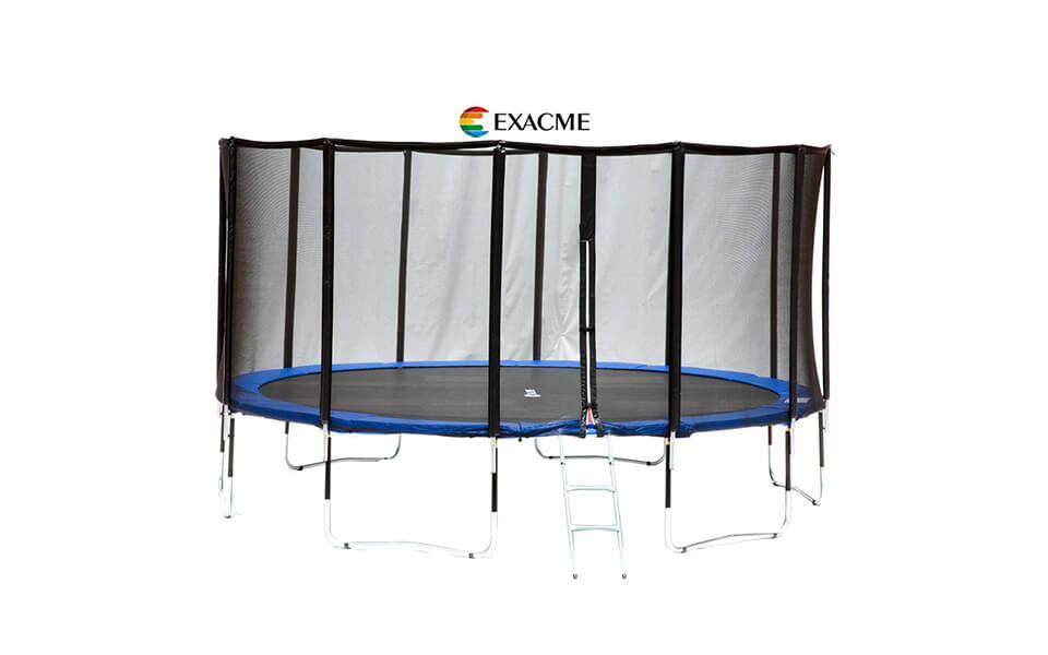 exacme lixury fiber glass pole trampoline
