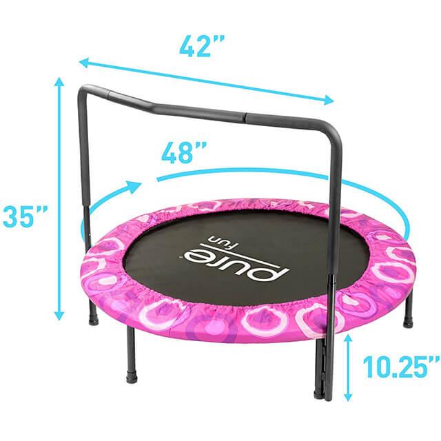 Pure Fun Super Jumper Kids Mini Trampoline Protrampolines