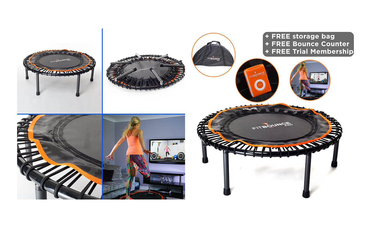 fit bounce pro 2 mini trampoline set
