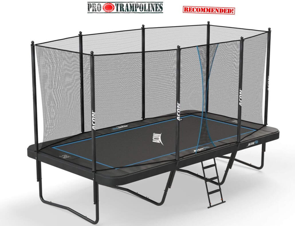 mini trampoline with enclosure acon rectangle trampoline acon air 16 sport hd review 7517