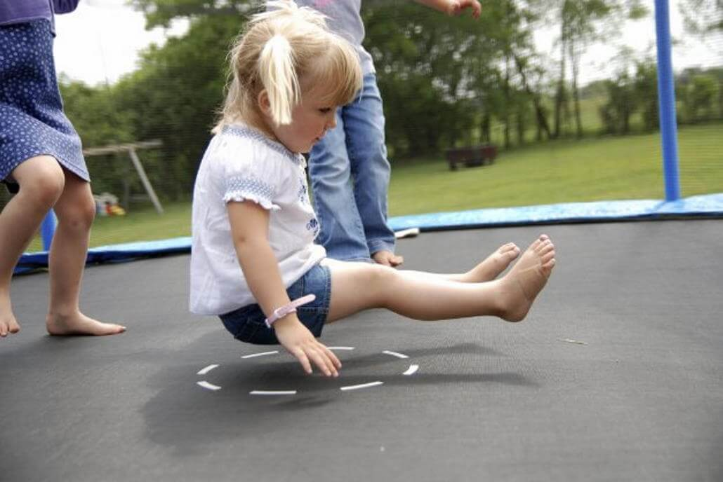Trampoline games with children image