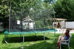 kid playing on skywalker trampoline
