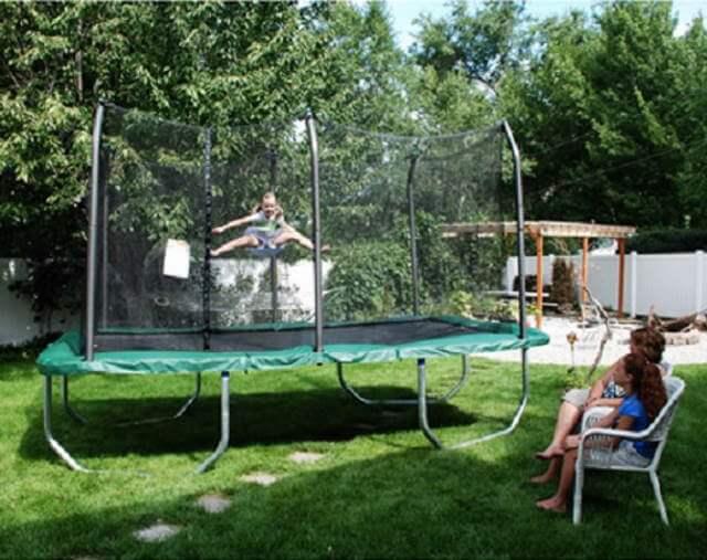Skywalker Rectangle 8×14 feet Trampoline and Enclosure; Innovative design