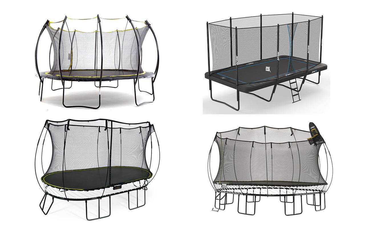Trampoline shapes and types