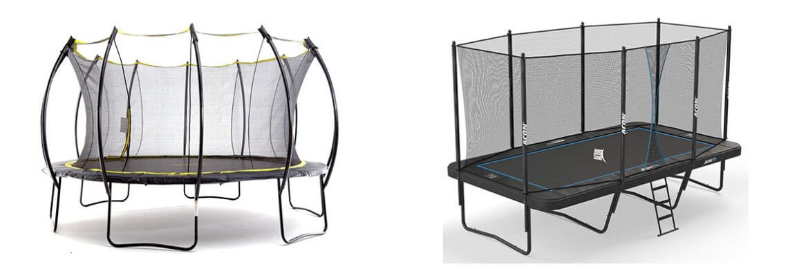 round vs rectangle trampoline