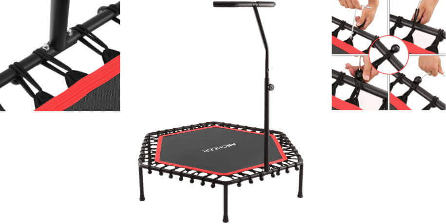 "Ancheer 50"" mini trampoline with handlebar - best mini trampolines #5"