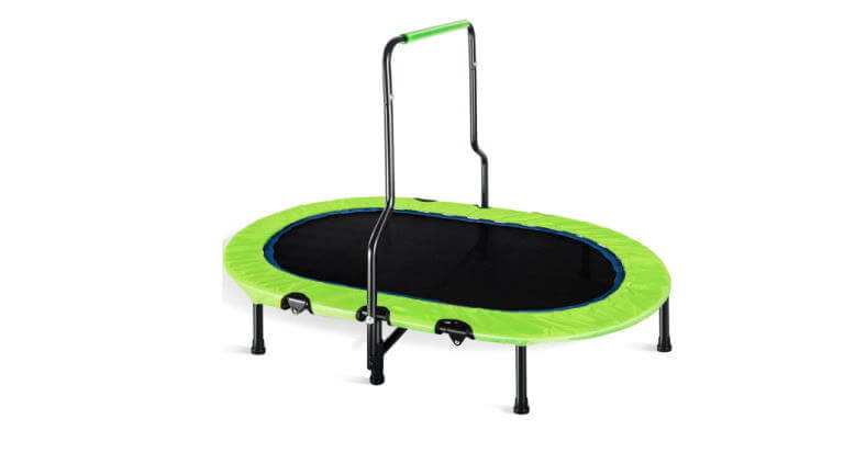 merax parent child double mini trampoline
