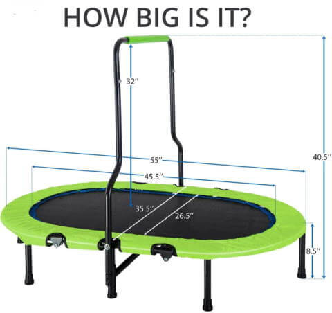 size of merax twin trampoline