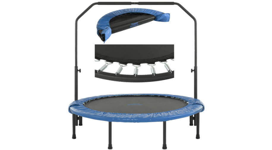"Upper Bounce 48"" Mini trampoline with handlebar"